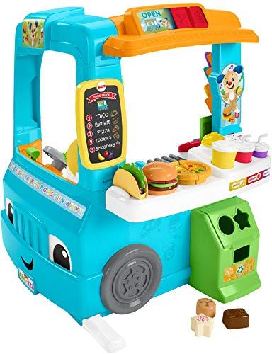 Fisher-Price DYM74 Imbisswagen und Kaufladen zum Spielen und Lernen, englischsprachig