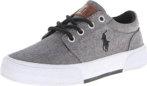 Polo Ralph Lauren Kids Faxon ll Lace-Up Sneaker (Little Kid/Big Kid),Gray,5 M US Big Kid