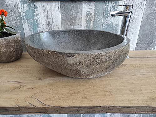 Lavabo de piedra 1ª elección 190 XL Medida 52 x 40 cm Altura 18 cm Fotos reales del lavabo lavabo de baño fregadero baño fregadero baño de apoyo