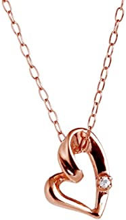 [キャーロ ディ ディアマンテ] ダイヤモンド 0.01ct ピンクゴールド K10 ネックレス CHD0001