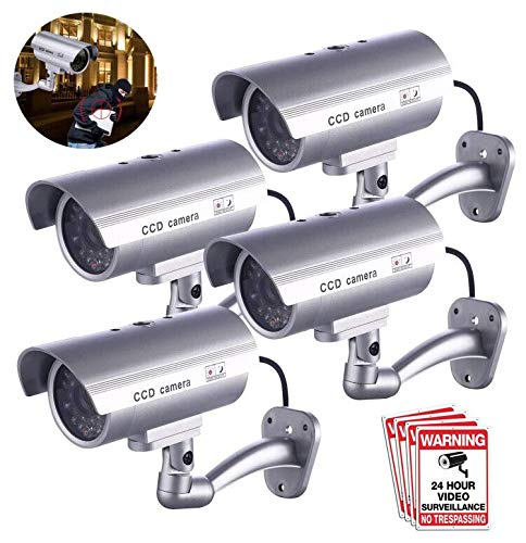 Great Features Of Dummy Security Camera, FITNATE 4 Packs Fake Surveillance Security CCTV Camera Syst...