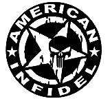 American Infidel - Vinyl Decal Sticker - 5.5' W X 5.5' H Black HGC2047.01