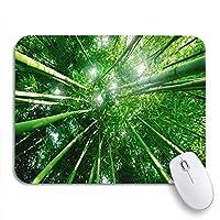 NINEHASA 可愛いマウスパッド グリーン穏やかな竹の森朝日光ジャングル日本中国ノンスリップゴムバッキングコンピューターマウスパッド用ノートブックマウスマット