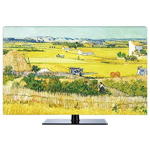 LIUDINGDING-zheyangwang Cubierta de TV LCD TV De Polvo Cubierta Colgante Disponible 55inch Paisaje De Lavanda (Color : Harvest, Size : 27inch)