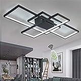 LED Deckenleuchte Wohnzimmer Lampen Dimmbar Deckenlampe Modern Eckig Design Decke Leuchen Aluminium...
