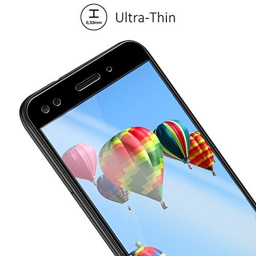 kalibri Huawei Y6 Pro (2017) / Enjoy 7 Folie - 3D Glas Handy Schutzfolie für Huawei Y6 Pro (2017) / Enjoy 7 - Auch für gewölbtes Display - 2