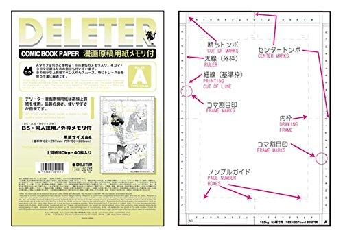 デリーター 原稿用紙 A4 110kgメモリ付 (A)