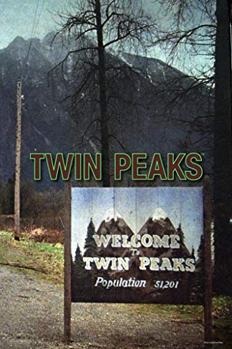 Twin Peaks Welcome Sign Opening Credits Season 1 David Lynch TV Show Series Merchandise Cool Wall Decor Art Print Poster 24x36