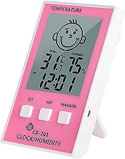 xdrfxrghjku Estación Meteorológica Termómetro Digital Higrómetro Interior Y Exterior Electrónico LCD Temperatura Hygrómetr...