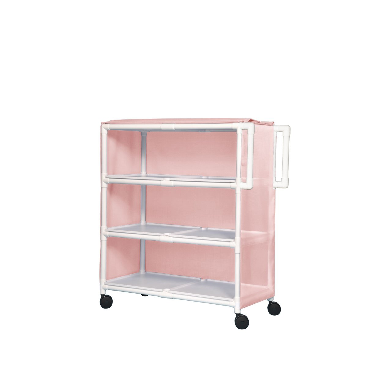 Jumbo Max 62% OFF Linen Cart - Three Chek Sure Camo Shelves Pink Philadelphia Mall