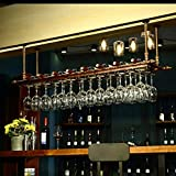 Cuelga copas,botella copa,copa vino botella, colgador stemware rack wine glass rack under cabinet glasses storage hanger hold up 24 glasses metal organizer for bar kitchen 100 * 30cm