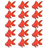 POPETPOP 15 Piezas Acuario Pecera Tanque Artificial Flotante Plástico Rojo Decoración Pez Dorado Decoración Pecera