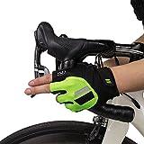 【GSG】サイクリンググローブ ロードバイク グローブ 夏 手袋 メンズ レディース サイクルグローブ 指切り 滑り止め付き 通気性 耐磨耗性 換気性 男女兼用 4色 180681/180282