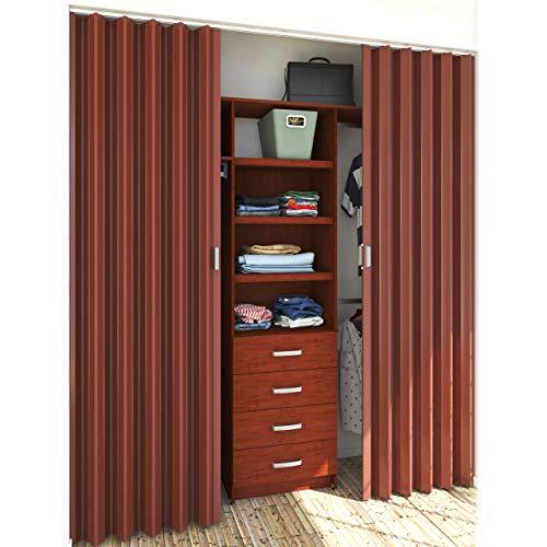 PLAYCON Puerta Plegable Universal Mediana 88 cm de Ancho X 244 cm de Altura Color Cerezo. La Altura se…