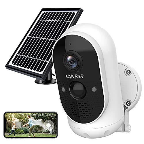 Outdoor Security Camera System Wireless,VANBAR Solar Powered WiFi Smart Home Camera with Battery,...