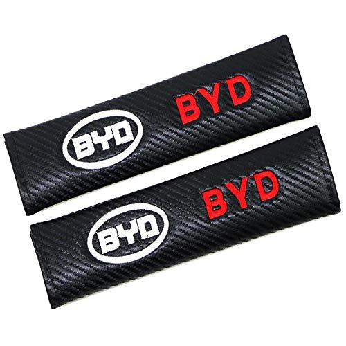 WHALLO Spallina Copri Cintura di Sicurezza per Auto, Adatta per BYD Livello di Protezione Medio Spallina Comfort con Clip di Sicurezza