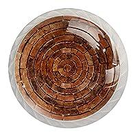 4個のキャビネットノブクリスタルガラスの引き出しハンドル石の丸 ドレッサーデスクキッチンドア用