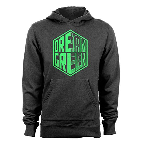 GEEK TEEZ Dota 2 Inspired Team OG Dream Green Women's Hoodie Charcoal Large
