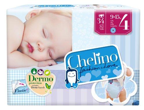 Chelino Fashion&Love - Pannolini taglia 4(9–15kg), 34unità