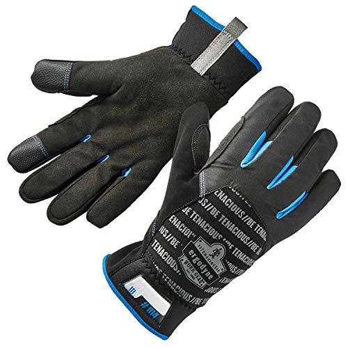 Ergodyne ProFlex 814 Thermal Winter Work Gloves,Touchscreen Capable, Black, Small