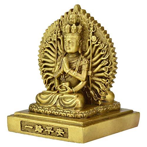 Estatua De Buda del Budismo Feng Shui, Escultura Coleccionable De Guan Yin De La Suerte De La Riqueza, Regalo De Decoración para El Hogar Y La Oficina