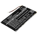CS-BNR510SL Batería 1500mAh Compatible con [Pocketbook] 631 Touch HD, para [KOBO] Aura, GLO HD, H2O, para [Barnes & Noble] BNRV510, Nook Glowlight Plus 2015 sustituye PR-285083