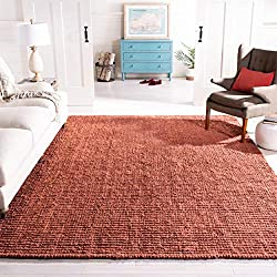 Amazon Safavieh Natural Fiber Collection NF447C Hand Woven Rust Jute Area Rug (8' x 10')