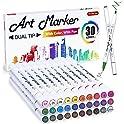 30 Colors Shuttle Art Dual Tip Art Marker Pens