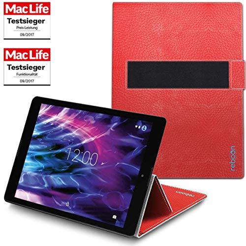 Hülle für Medion Lifetab P9702 Tasche Cover Case Bumper | in Rot Leder | Testsieger