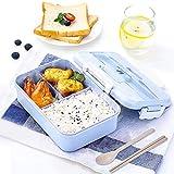 Gxhong Porta Pranzo, Lunch Box per Bambini Scatola Bento con 3 Scomparti Sigillati, Conten...