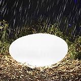 Homever RGB Luz Solar de Jardín - Lámpara Esfera con 16 Colores Ajustables, 40cm Iluminación Exterio...