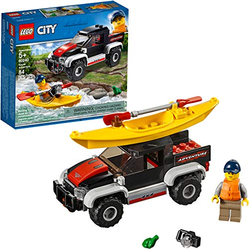 LEGO City Great Vehicles Kayak Adventure 60240 Building Kit, 2019 (84 Pieces)