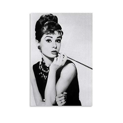 Póster de Audrey Hepburn, cuadro decorativo, lienzo para pared, sala de estar, póster, dormitorio, 30 x 45 cm