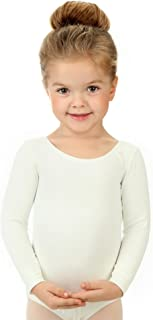 Elowel Kids Girls' Basic Long Sleeve Leotard (Size 2-14 Years) Multiple Colors