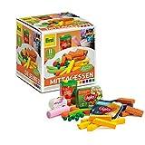 Erzi Mittagessen Sortierbox ideal zum Kochen in der Spielküche von Fischstäbchen mit Pommes und Gemüse mit hochwertigen Spielzeuglebensmittel aus Holz