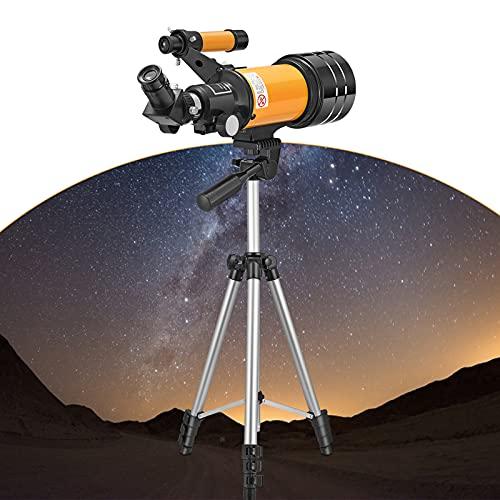 PaNt Telescopio Astronómico para Principiantes Telescopio Profesional de Calibre Ocular de 70 mm Trípode y Mochila Ajustables,Aumento 150X,El Mejor Regalo para Niños y Principiantes