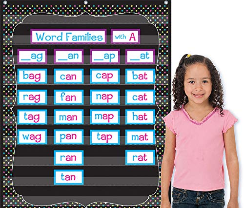 Teacher Created Resources Chalkboard Brights 10 Pocket Chart (20746), Black, 34inx44in Photo #2
