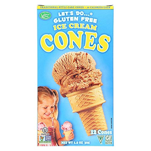 Lets Do, Cones Ice Cream Waffle Gluten Free, 1.2 Ounce