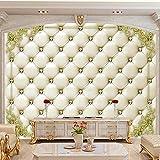 asfdgkwejd papel pintado mural 260x175CM Diamante bolso blando símil piel estampado Arte de pared que pinta la imagen impresa en lienzo imágenes para decoración del hogar regalo de decoración XL