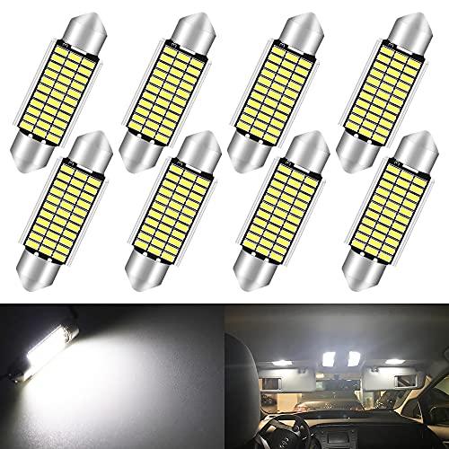 Qoope - Pack of 8-41mm Festoon LED Bulb, 578 LED...