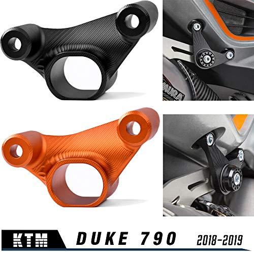 Motorrad DUKE 790 18 19 Neu Auspuffhalterung für 790 Duke 2018 2019 Zubehör (Schwarz)