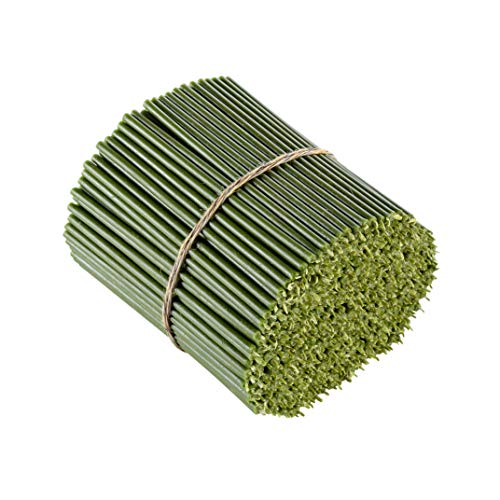 Danilovo Ritual - Velas de cera de abeja (verde), para decoración de mesa de boda, no tóxicas, sin hollín, sin goteo, larga y sostenible, N100, altura: 16,5 cm, diámetro de 5,7 mm, 50 unidades - 200 g