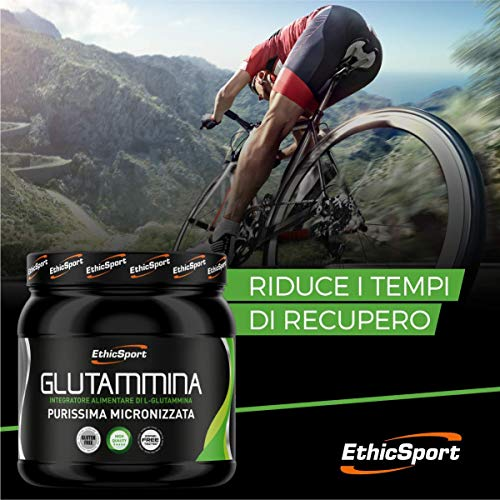 EthicSport - Glutammina - Barattolo da 300 g - Integratore alimentare