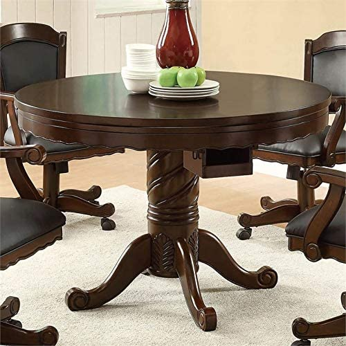 BOWERY Miami Mall HILL Round Pedestal Dining Tobacco in Award-winning store Table and Black