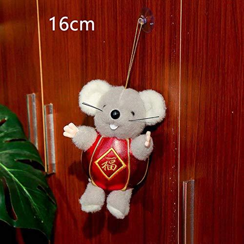 EDCV Doll Rat Knuffel Lente Feestelijke Zegen Leuke Hanger Feest Woondecoratie Kinderen Cadeau Hangende Vakantie Mascotte, 1