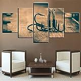 Mookou American Fishing Gemälde auf Leinwand 60''W x 32''H