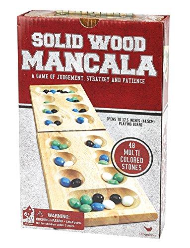 Wood Folding Mancala in Cardboard Sleeve (Packaging may Vary)