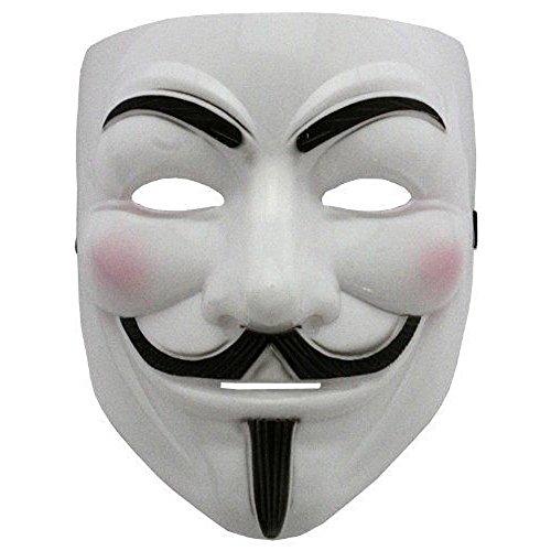 Masker - witte kleur - carnaval - halloween - vrouw - man - - film - beroemd v per vendetta anonymous guy fawkes