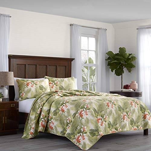 Tommy Bahama Topical Orchid Quilt Set, Twin
