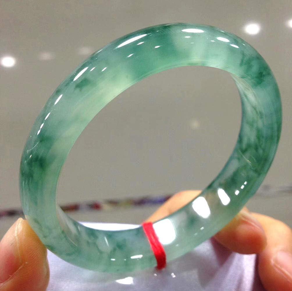 KTT Fengshui Gem Natural Emerald Jade Ice Seeds Floating Green Bracelet Chinese Jade Bangle Band Certificate for Women